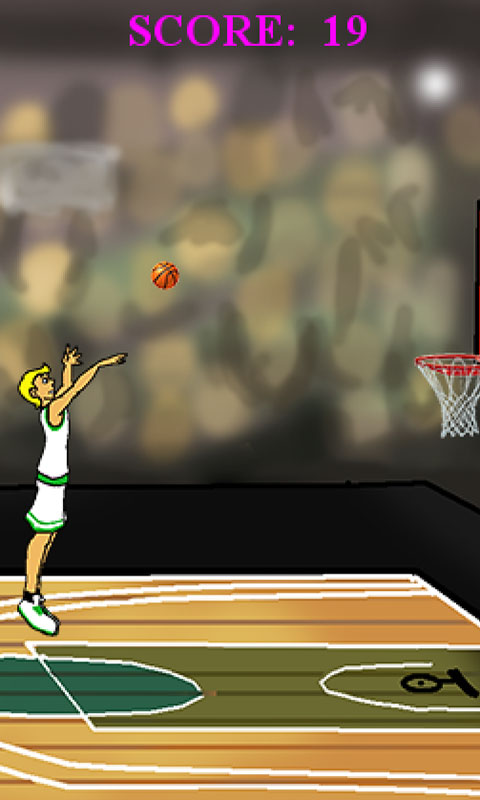 basketball shots player jumping and throwing ball to score