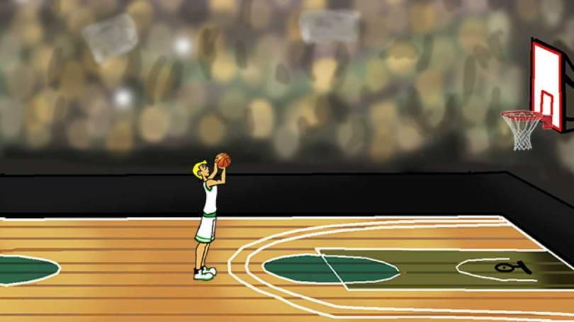 Basketball shooting animation for mobiles