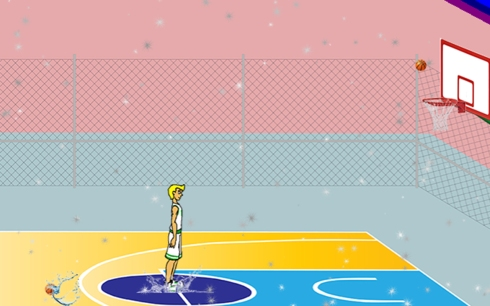 Wet basketball game