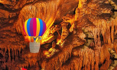 Female balloon pilot flying to freedom